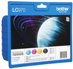 Pack de 4 cartouches originales Brother ''LC970''