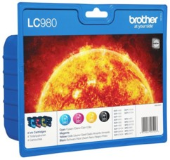 Pack de 4 cartouches originales Brother ''LC980''