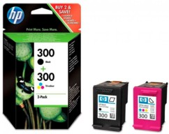 Pack de cartouches originales HP 300 Noir + couleur