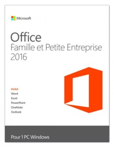 Microsoft Office 2016 Famille et petite entreprise
