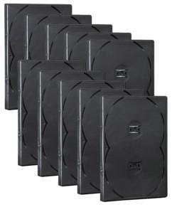 10 boîtiers DVD - 4 DVD - Noirs