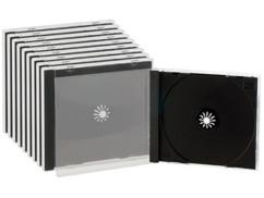 10 Boîtiers range-CD double noir
