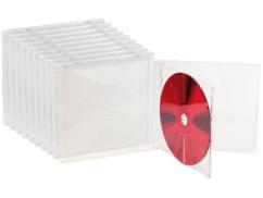 10 Boîtiers range-CD doubles - transparents