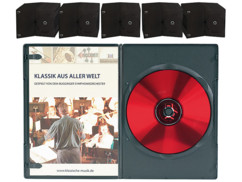 50 boîtiers DVD slim (7 mm) - 1 DVD - Noir
