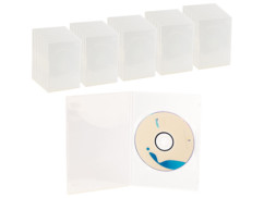 50 jaquettes DVD slim (7 mm) transparent pour un DVD