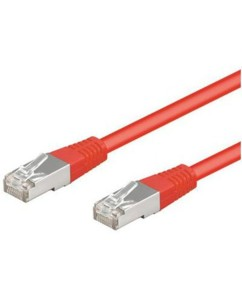 Câble RJ45 rouge cat5e F/UTP - 3m