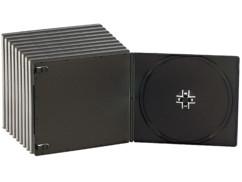 10 Boîtiers range-CD ultra-fins 7mm - noirs