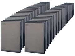 50 boîtiers d'archivage noirs CD/DVD