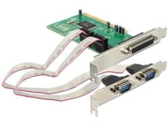 Carte contrôleur PCI 2 série / 1 parallèle Delock