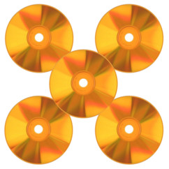 CD-R de couleur orange  X 5