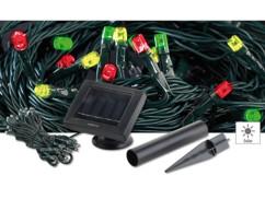 Guirlande solaire 50 LED multicolores