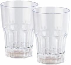 2 verres à cocktails lumineux