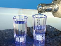2 verres à schnaps lumineux
