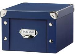 Boîte bleue d'archivage pour DVD