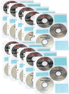 10 pochettes à CD/DVD pour classeur