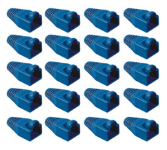 20 manchons bleus pour prise RJ45