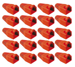 20 manchons rouges pour prise RJ45