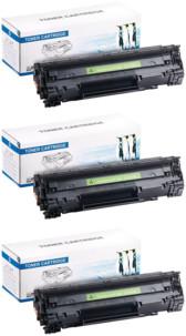 3 toners compatibles HP CE285A