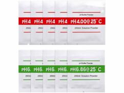 Pack de la marque AGT avec 10 solutions de calibrage pour pH-mètre.