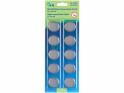 10 piles bouton CR2450 - 3 V - 550 mAh
