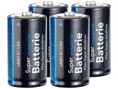 4 Piles super alcalines type D