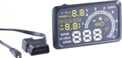 Afficheur tête haute 5,5'' HUD-55C pour véhicules avec OBD-II