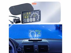 afficheur tête haute lescars avec support et film de projection mise en situation dans un véhicule