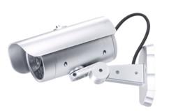 Caméra de surveillance factice avec détecteur de mouvement et signal LED