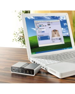 Carte audio USB 7.1 ''Sound Box'' pour PC & Notebook