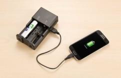 chargeur de piles accus aa aaa c avec fonction batterie usb de secours pour smartphone iphone TKA