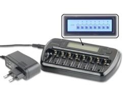 Chargeur de piles rechargeables avec affichage LCD du niveau de charge par TKA