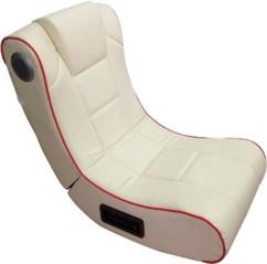 Fauteuil vibrant avec haut-parleurs intégrés et récepteur Bluetooth , Blanc