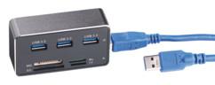 hub usb 3.0 3 ports avec lecteur de carte sd microsd m2 ms intégré