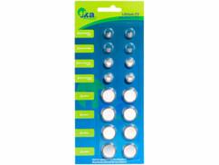 Lot de 16 piles bouton de différents types