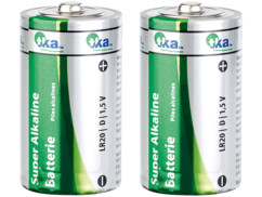 Lot de 2 piles super alcalines mono 1,5V type D