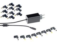 Adaptateur secteur universel compact pour notebook avec 18 connecteurs