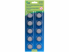 Pack de 10 piles bouton CR2025 - 3 V - 160 mAh