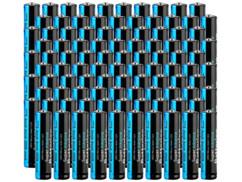 100 piles super alcalines AAA