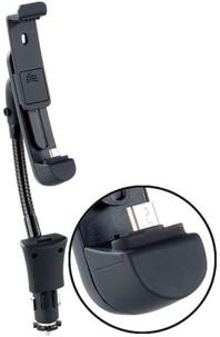 Support-chargeur voiture col de cygne avec port Micro-USB