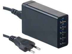 Support pour appareils mobiles avec emplacement batterie + Chargeur USB 5 ports