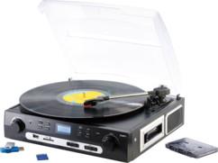 Tourne-disque lecteur cassette USB & enregistreur MP3