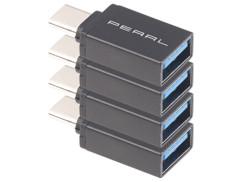 4 adaptateurs USB 3.0 femelle vers USB type C mâle