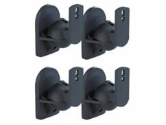 4 supports muraux pour haut-parleurs satellites