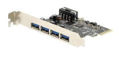 carte pci express controleur 4 ports usb 3.0 xystec