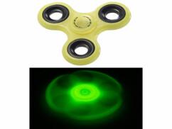 Hand spinner 3 branches - Phosphorescent (jaune)
