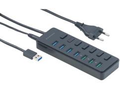 Hub actif 7 ports USB 3.0/ BC 1.2 avec interrupteurs