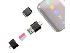 Lecteur de carte Micro SD pour ports USB A et C