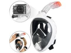 Masque de plongée XL avec caméra étanche jusqu'à 30 m