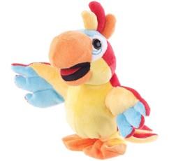 peluche pour enfant de perroquet avec module enregistreur et repeteur