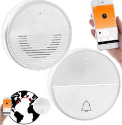 sonnette carillon sans fil connecté avec fonction interphone par application FTK250 casa control